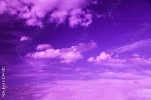 Obraz na plátně violet sky with clouds