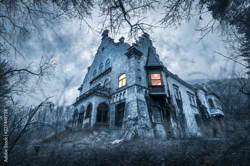Old haunted abandoned house Wallpaper Mural