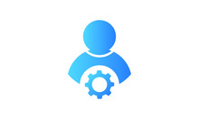 User Setting Gradient Style Vector Icon
