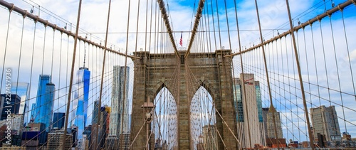 Keuken foto achterwand New York City Pont de Brooklyn, New York, USA