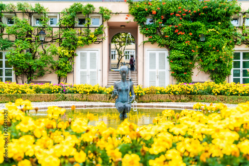 Mirabell garden in Salzburg City Fototapeta