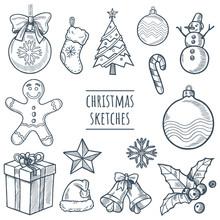 Christmas Vector Hand Drawn Sk...