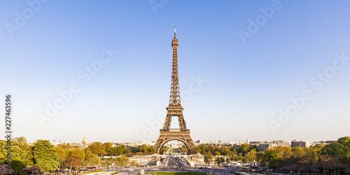 France, Paris, Panoramic view, Place de Varsovie and Eiffel Tower