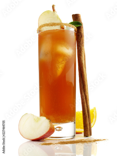 Whisky Cocktail mit Apfel