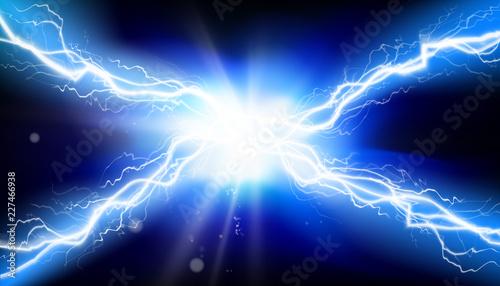 Electric discharge. Heat lighting. Vector illustration. Fototapeta