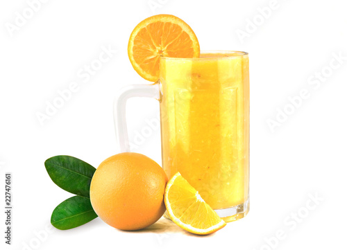 Orange Juice in a glass, Fresh Healthy Orange