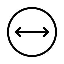 Width Thin Arrow Direction Move Arrows.9 Vector Icon