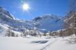 Arpy Lake Italian Alps - Lac d'Arpy Alpes francaises