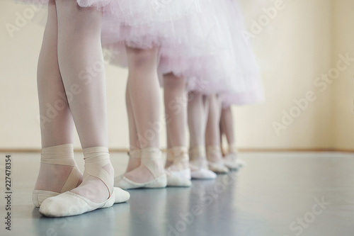 Fotografie, Obraz  Little dancers legs in pointe shoes, making exercises