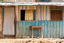 Sao Tome, Typical Wooden House...