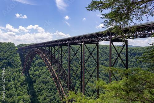 In de dag Brug New River Bridge, West Virginia