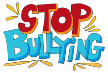 Stop Bullying Message Words