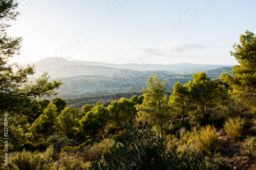 Fotobehang Wit mountain landscape, nature walk and beautiful views of mediterranean landscapes