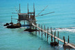 An old trabucco a typical construction for fishing. Abruzzo, Italy