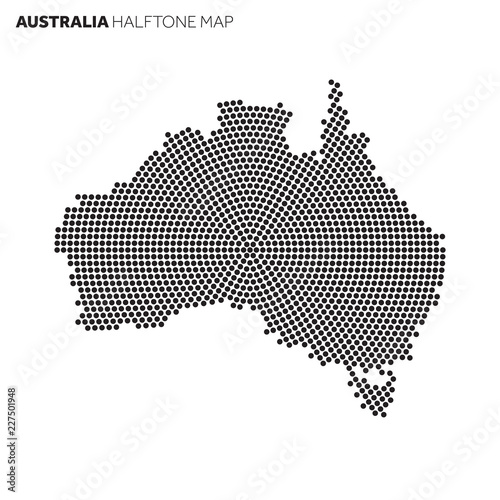 Australia Country Map.Australia Country Map Made From Radial Halftone Pattern Buy This