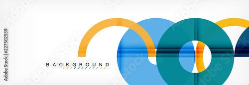Fényképezés Geomtric modern backgrounds, rings abstract template