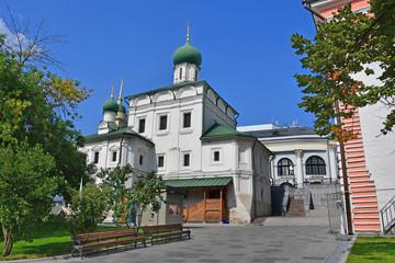 Fototapeta na wymiar Moscow, Russia, the church of Maxim the blessed on Varvarka street (1698-1699 years built)