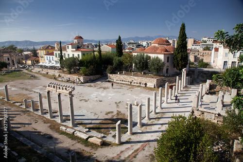 Photo the roman agora   Athens  Greece