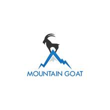 Mountain Goat Logo Icon Template