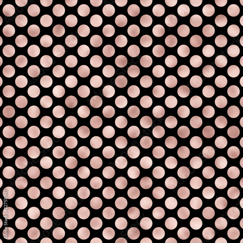 Rose Gold Polka Dot Wallpaper Digital Background Buy This