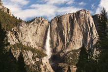 Scenic View Of Yosemite Falls,...