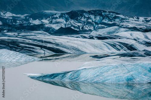 Poster Gletsjers blaues Gletschereis