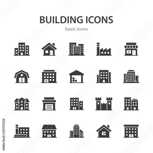 Building icons. Fototapete