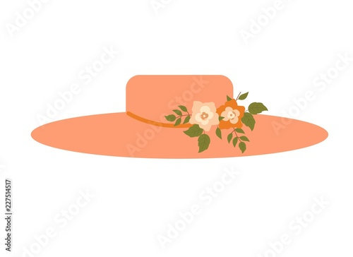 Fotografie, Obraz  Elegant pink ladies flower women hat