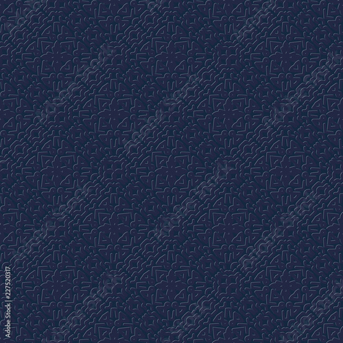 Fotografering  dark seamless pattern with an embossed ornament