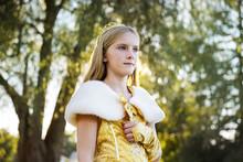 Portrait Of Girl Wearing Princess Costume