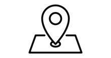 Location Line Icon Motion Grap...