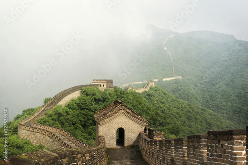 Deurstickers Chinese Muur High angle view of great wall in china