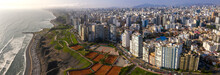 Aerial View Of Miraflores Town In Lima, Peru.