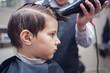 At a barbershop.