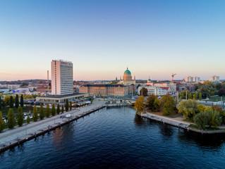 Potsdams Zentrum in herbstlicher Abendstimmung 2018