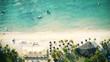 Luftbild von einem atemberaubenden Strand in Mauritius