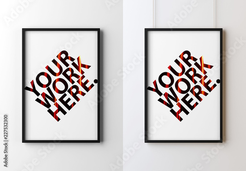 Black Frame Poster Mockup Buy This Stock Template And Explore