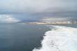 Water jet at sea