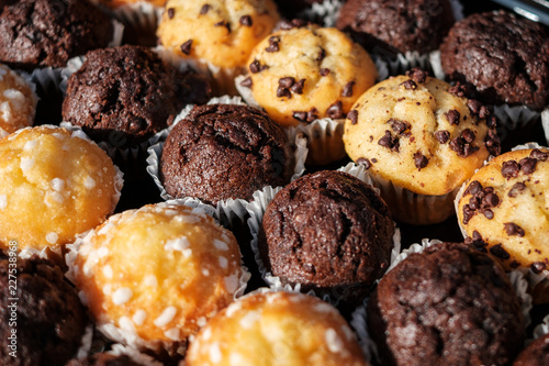 muffins on dessert buffet - muffin closeup -