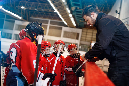 Game plan tactics in hockey.
