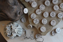 Anglo-saxon Wooden Handmade Runes Futhorc