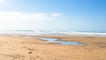 Cornwall Bude Beach With A Str...
