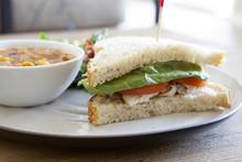 Turkey Sandwich And Soup