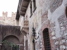Romantic Juliet Balcony In The Beautiful City Of Verona