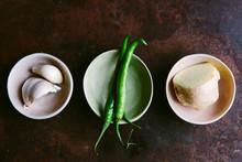 Garlic, Ginger And Green Chilli
