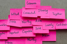 Post-it Notes With Positive Ad...