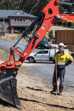 'Spotter' At Work With Excavat...