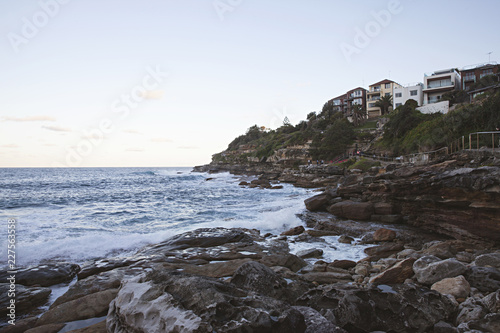 Coastal walk at sunset from Bondi Beach to Tamarama
