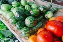 Organic Chayote, Zucchini And ...