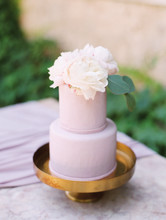 Small Cake With Flowers